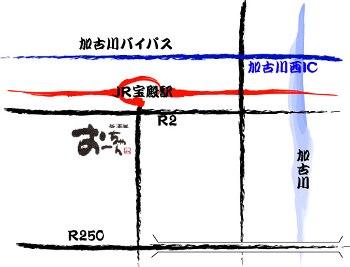 居酒屋「おーちゃん」の地図